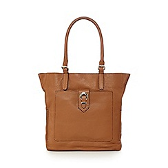 The Collection - Tan eyelet shopper bag