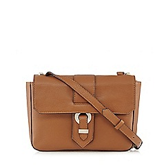 The Collection - Tan leather cross body bag