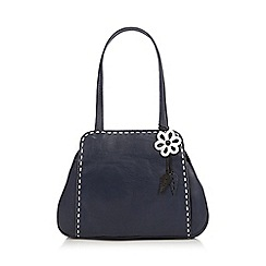 The Collection - Navy contrast stitch shoulder bag