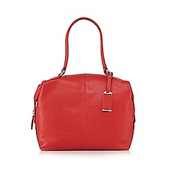 The Collection - Red leather bowler bag
