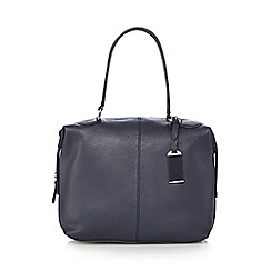 The Collection - Navy leather bowler bag