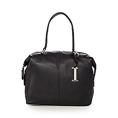 The Collection - Black leather bowler bag