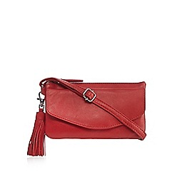 The Collection - Red tassel cross body bag