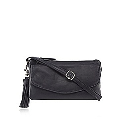 The Collection - Navy tassel cross body bag