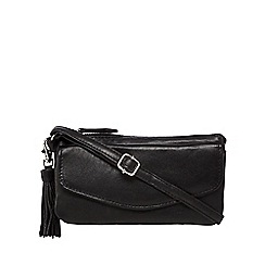 The Collection - Black tassel cross body bag
