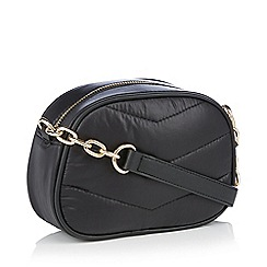 The Collection - Black leather butterfly applique shoulder bag