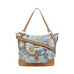 Mantaray - Light blue winter floral print weekender bag