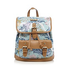 Mantaray - Light blue winter floral print rucksack
