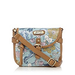 Mantaray - Light blue winter floral print cross body bag