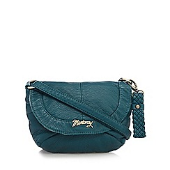 Mantaray - Dark turquoise soft mini cross body bag