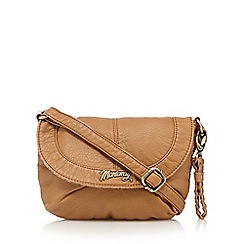 Mantaray - Tan soft mini cross body bag