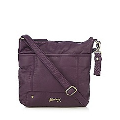 Mantaray - Purple soft cross body bag