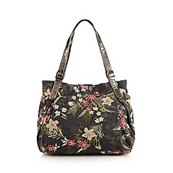 Mantaray - Khaki floral embellished shopper bag