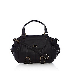 Mantaray - Black buckle detail bowler bag