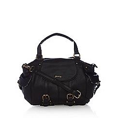 Mantaray - Black buckle detail bowler bag