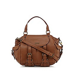 Mantaray - Tan buckle detail bowler bag