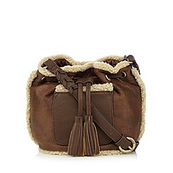 Mantaray - Brown cross-body bag