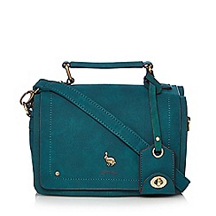 Mantaray - Turquoise hare stud cross body bag