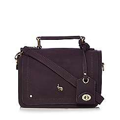 Mantaray - Purple hare stud cross body bag