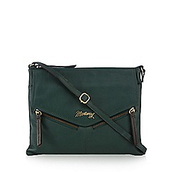 Mantaray - Green leather cross body bag