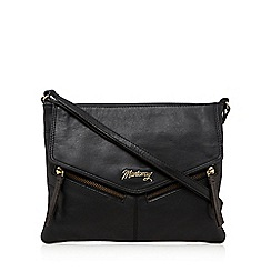 Mantaray - Black zip pocket cross body bag