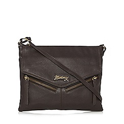 Mantaray - Dark brown leather cross body bag