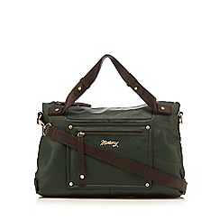 Mantaray - Green leather bowler bag