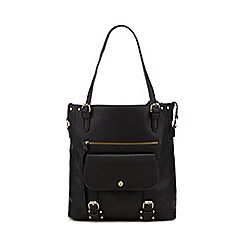 Mantaray - Black buckle detail tote bag