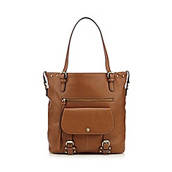 Mantaray - Tan grained buckle tote bag