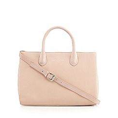 Bailey & Quinn - Pale pink leather snakeskin side large grab bag