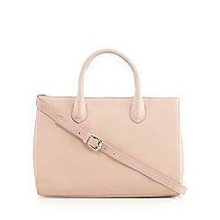 Bailey & Quinn - Pale pink leather snakeskin side large grab bag