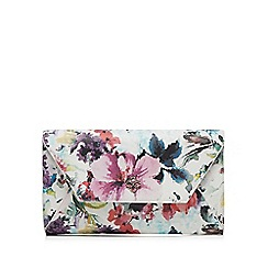 Bailey & Quinn - White floral printed clutch bag