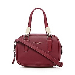Bailey & Quinn - Dark pink leather 'Boxy' cross bag