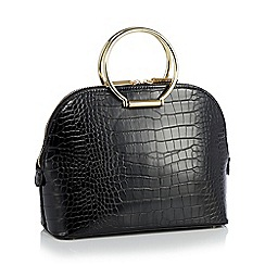 Bailey & Quinn - Black leather 'Boxy' cross body bag