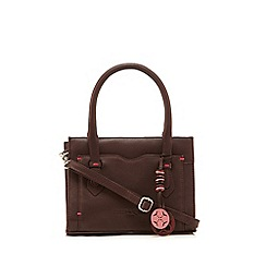 Bailey & Quinn - Dark red 'Jacinta' small leather grab bag