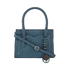 Bailey & Quinn - Turquoise 'Jacinta' small leather grab bag