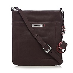 Bailey & Quinn - Dark red 'Ivy' leather cross body bag