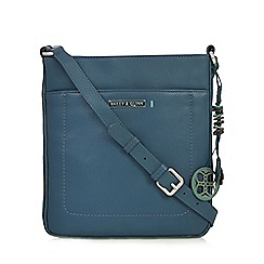 Bailey & Quinn - Turquoise 'Ivy' leather cross body bag