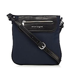 Bailey & Quinn - Navy zip pocket cross body bag