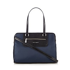 Bailey & Quinn - Navy three compartment tote bag