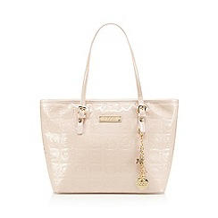 Floozie by Frost French - Light pink floral patent grab bag