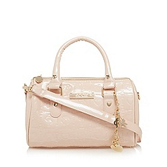 Floozie by Frost French - Light pink floral patent mini bowler bag