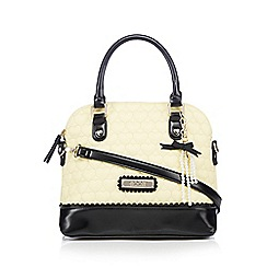 Floozie by Frost French - Light yellow heart quilted kettle bag