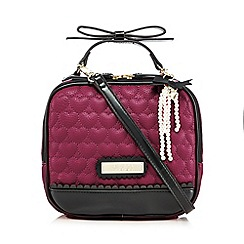 Floozie by Frost French - Dark pink quilted pearl grab bag