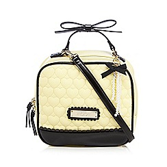 Floozie by Frost French - Light yellow heart quilted boxy grab bag