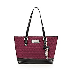 Floozie by Frost French - Dark pink quilted pearl tote bag