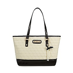 Floozie by Frost French - Cream heart quilted tote bag