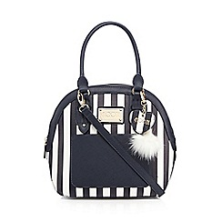 Floozie by Frost French - Navy striped kettle bag