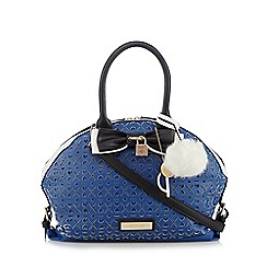 Floozie by Frost French - Navy heart cutout bowler bag