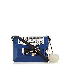 Floozie by Frost French - Blue heart cutout cross body bag